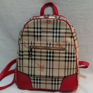 Burberry look a like backpack